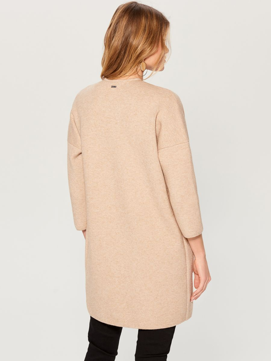 Cardigan with pockets - beige - VZ806-08X - Mohito - 5