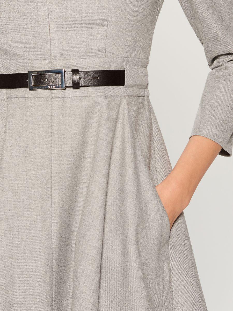 Dress with belt - light grey - VZ974-09X - Mohito - 3