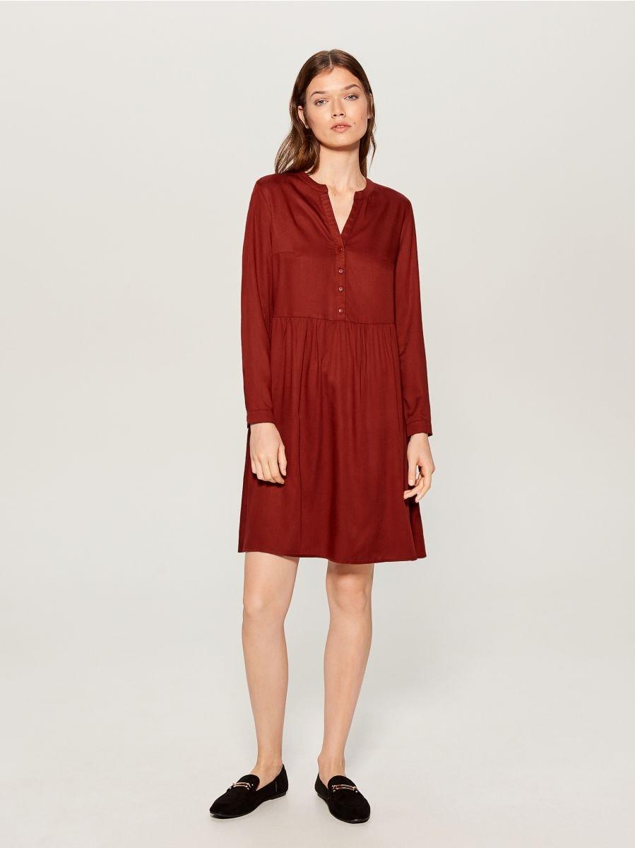 Shirt dress - brown - WA242-88X - Mohito - 3
