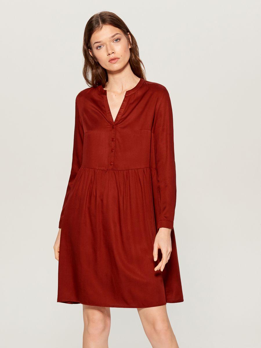 Shirt dress - brown - WA242-88X - Mohito - 1