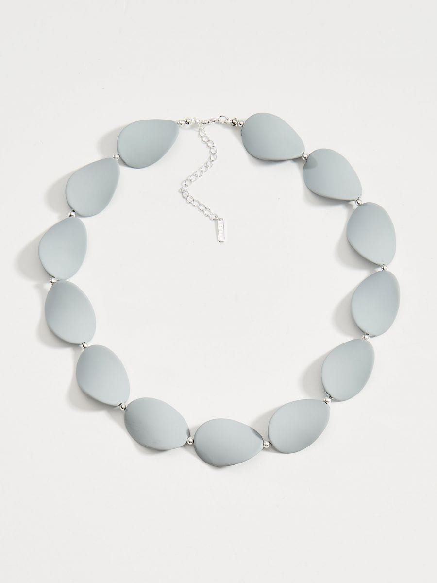 Short necklace - grey - WA583-90X - Mohito - 2