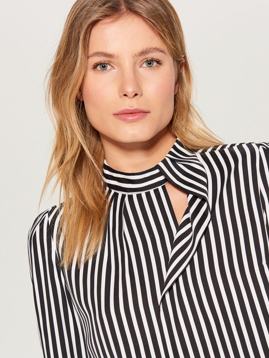 Striped shirt - black - WA845-99P - Mohito - 1