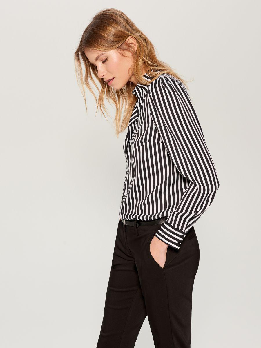 Striped shirt - black - WA845-99P - Mohito - 2