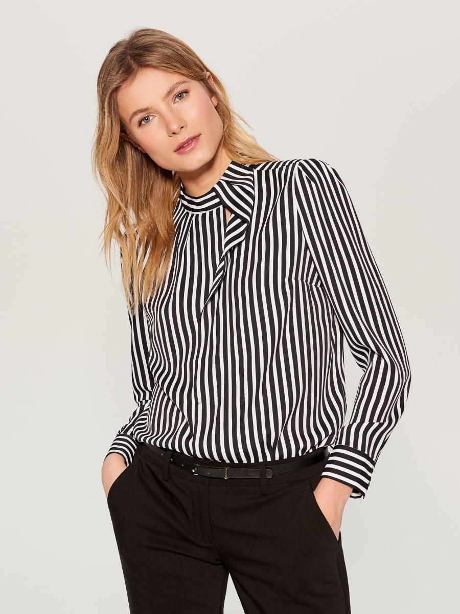 Striped shirt - black - WA845-99P - Mohito - 4