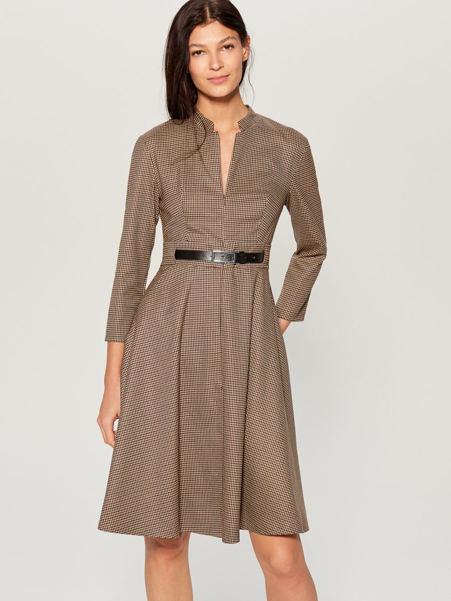 Dress with belt - beige - WA908-08P - Mohito - 3