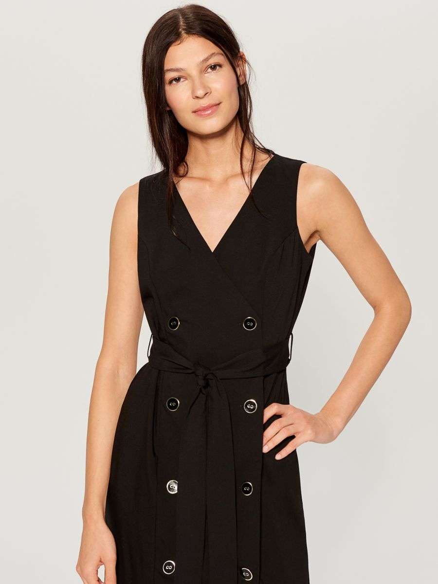 Double-breasted dress - black - WE427-99X - Mohito - 2