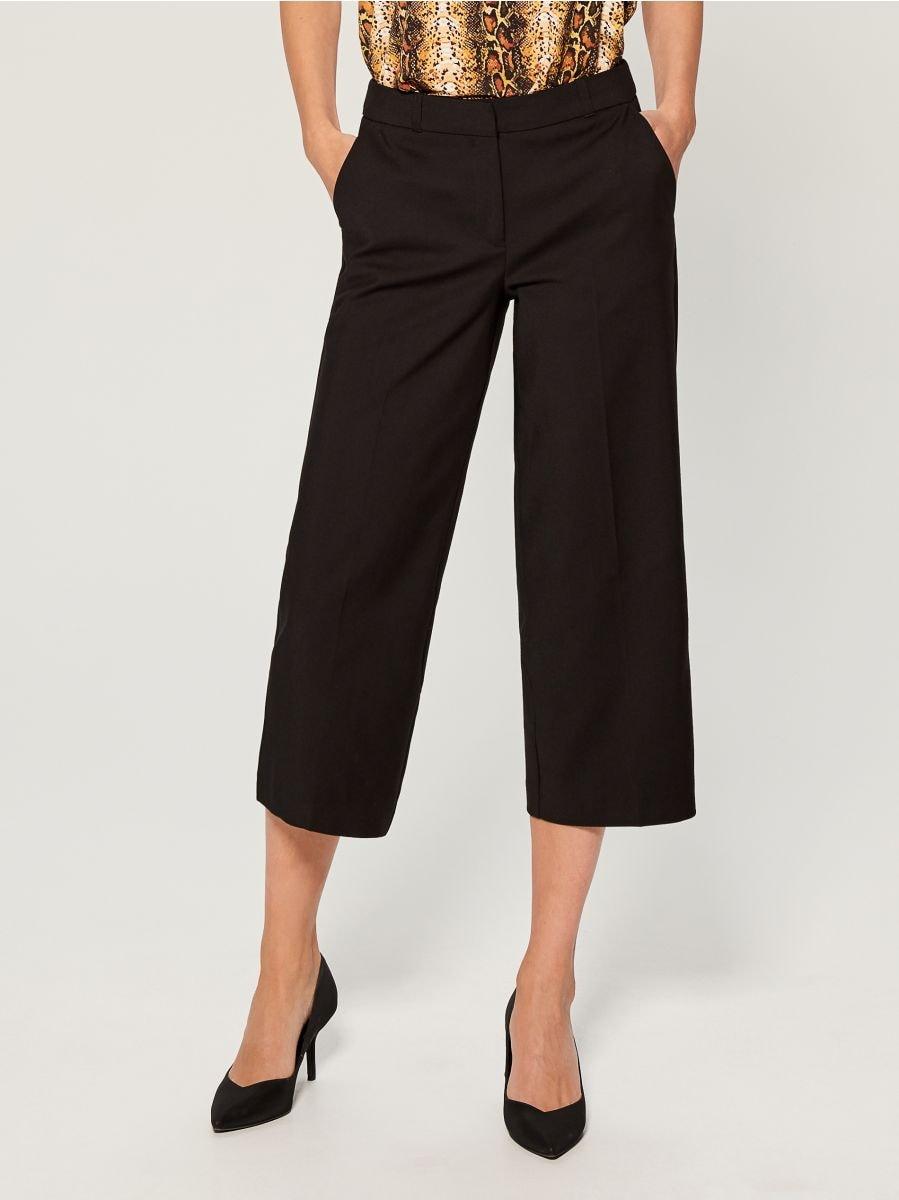 Culotte trousers - black - WF240-99X - Mohito - 1