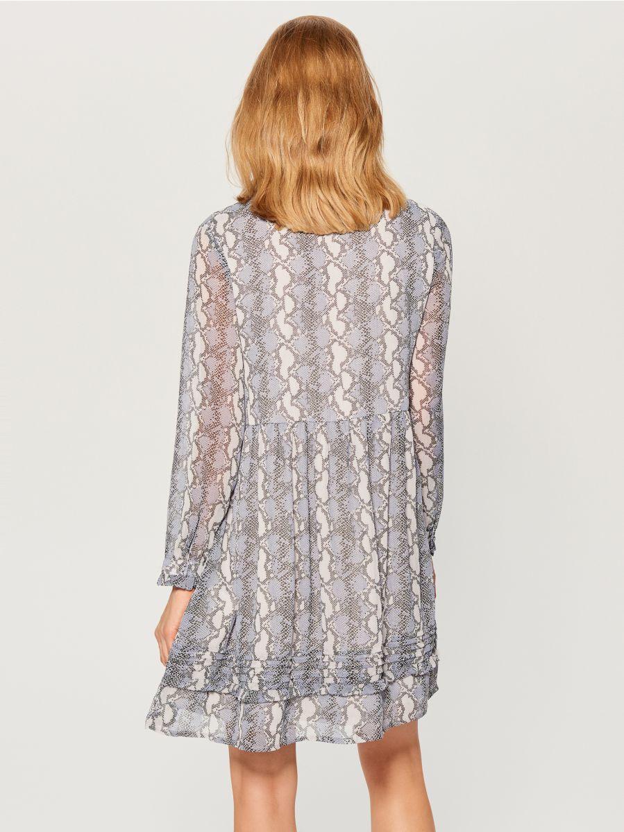 Snake print dress - grey - WG187-09P - Mohito - 4