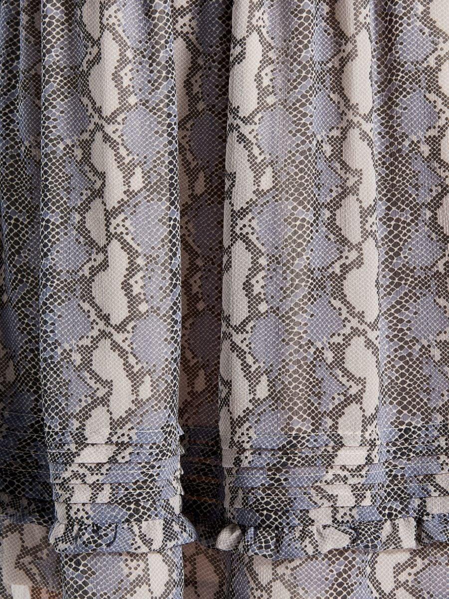 Snake print dress - grey - WG187-09P - Mohito - 5