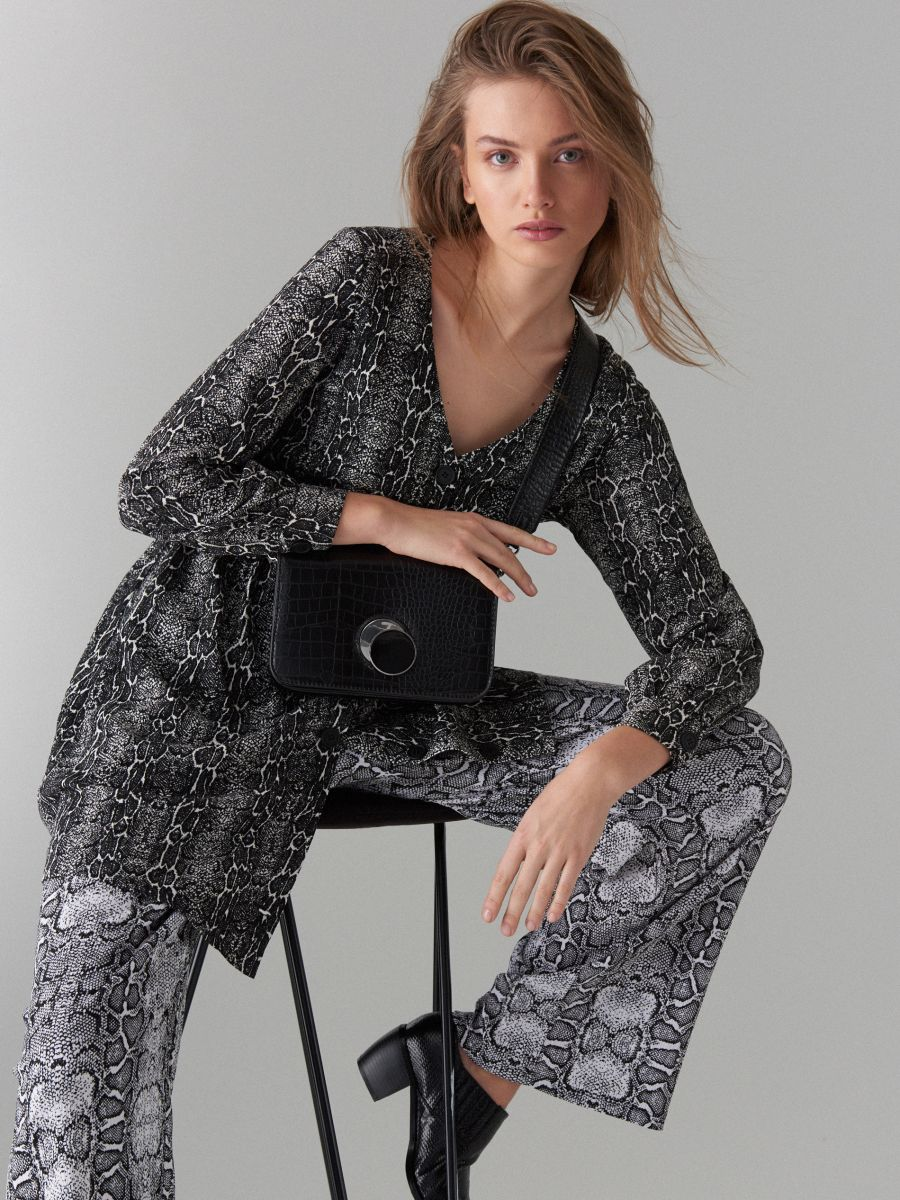 Snake print dress - black - WG847-99P - Mohito - 3