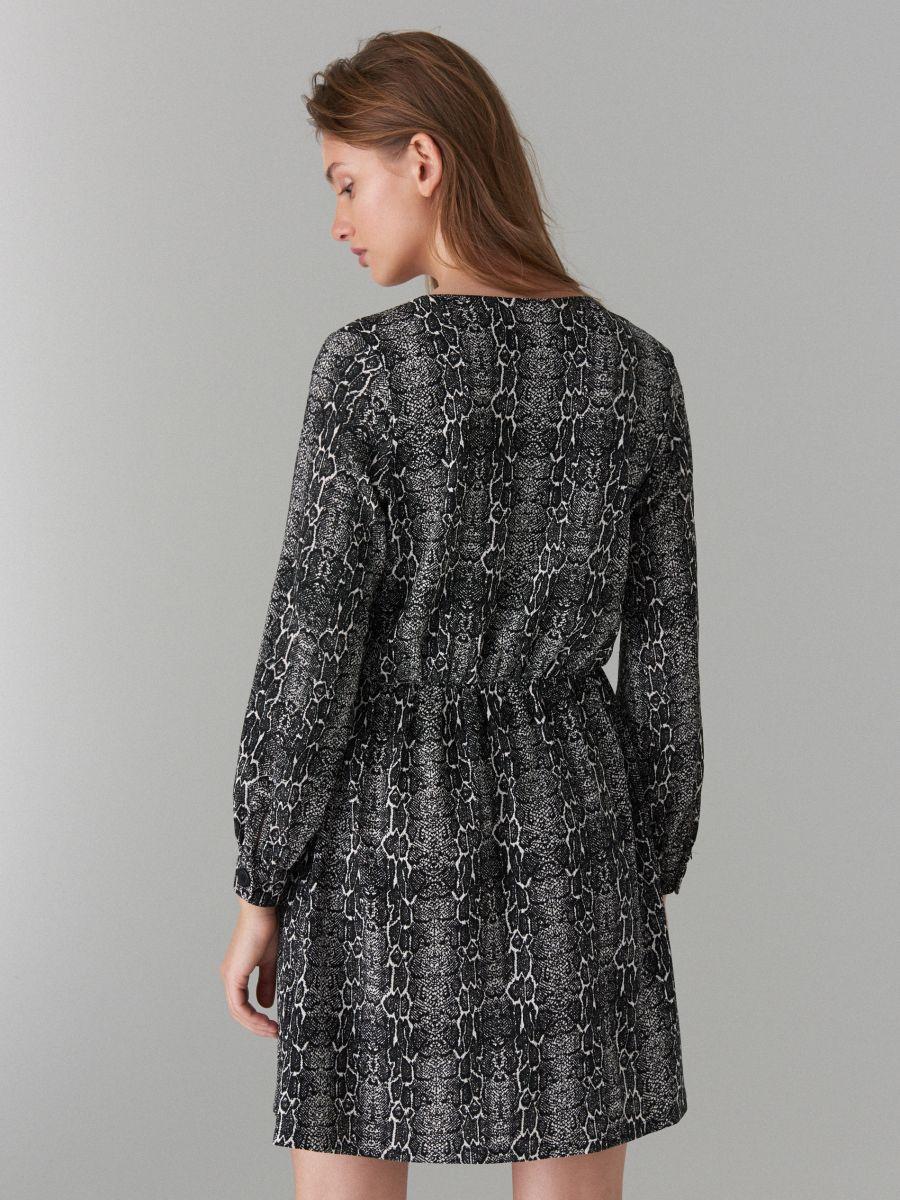 Snake print dress - black - WG847-99P - Mohito - 5