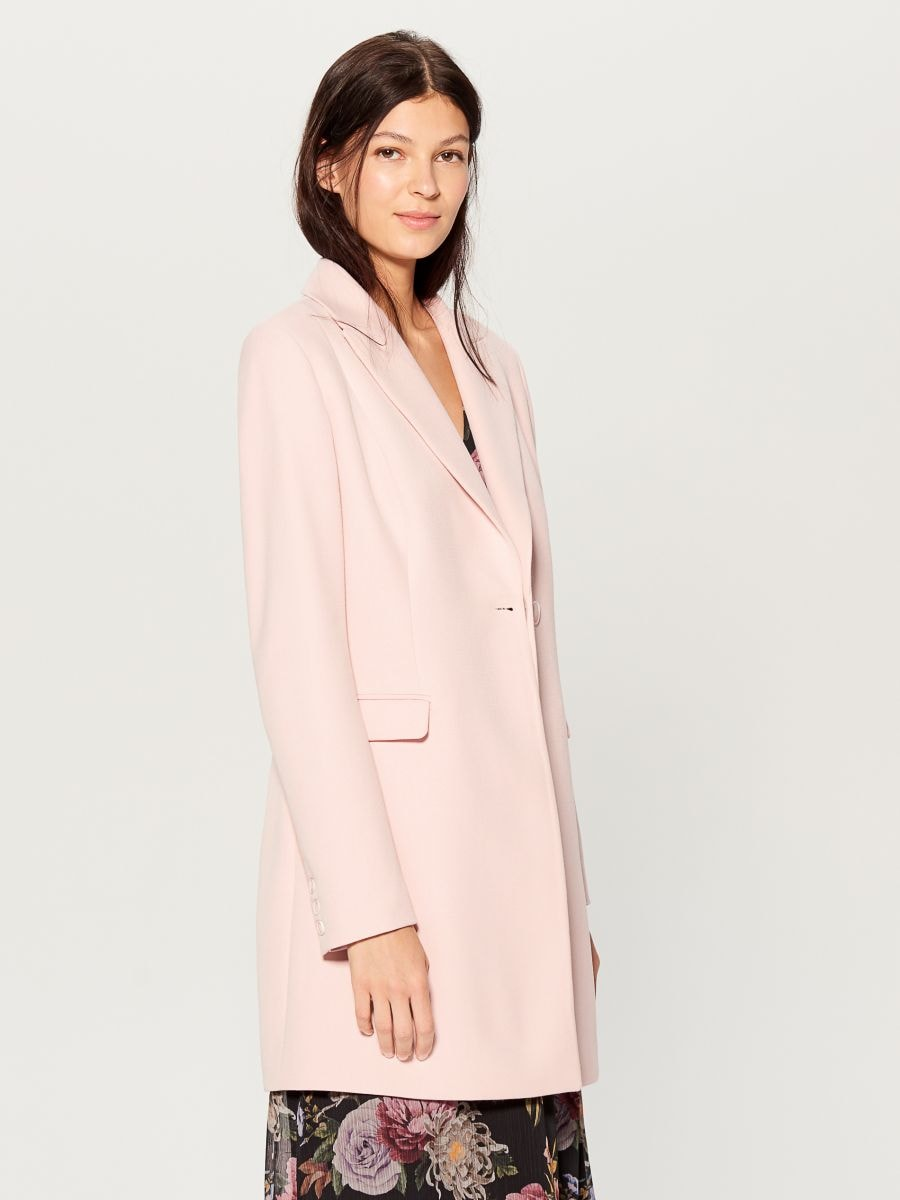 Single-breasted coat - pink - WH037-03X - Mohito - 1