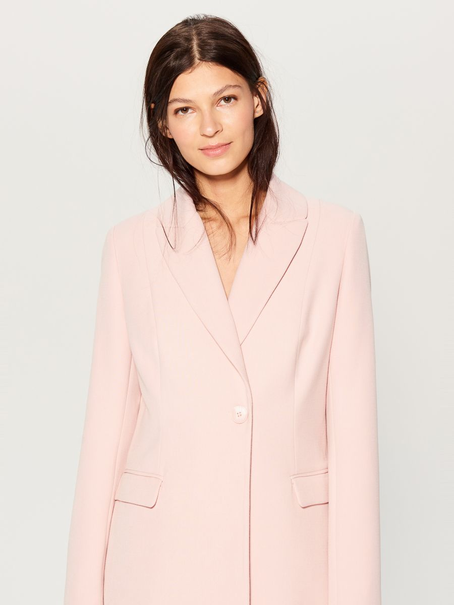 Single-breasted coat - pink - WH037-03X - Mohito - 3