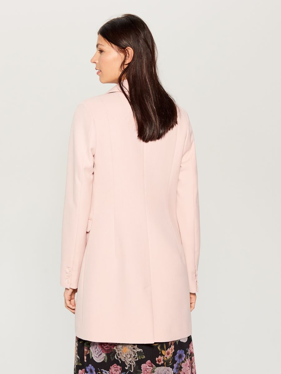 Single-breasted coat - pink - WH037-03X - Mohito - 6