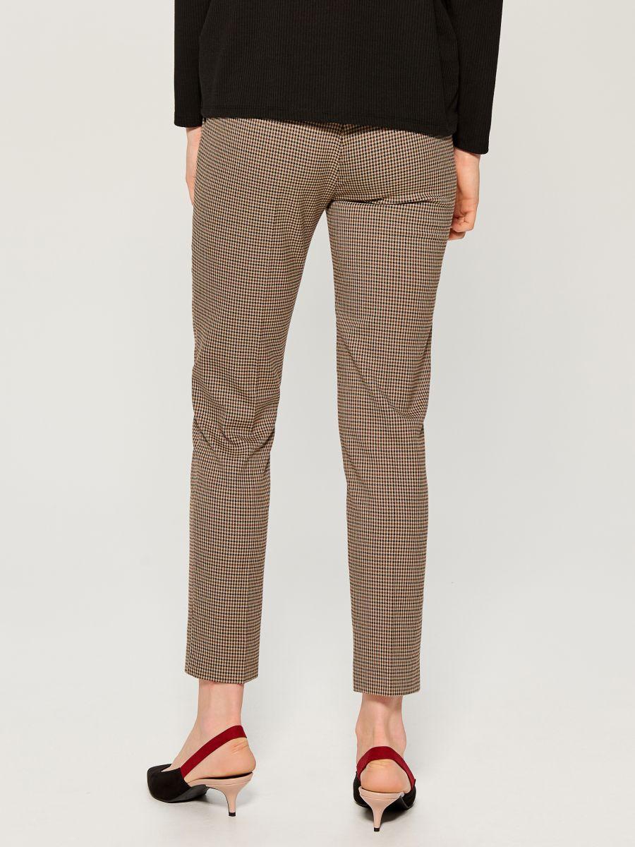 Checked cigarette trousers - beige - WP109-08P - Mohito - 4