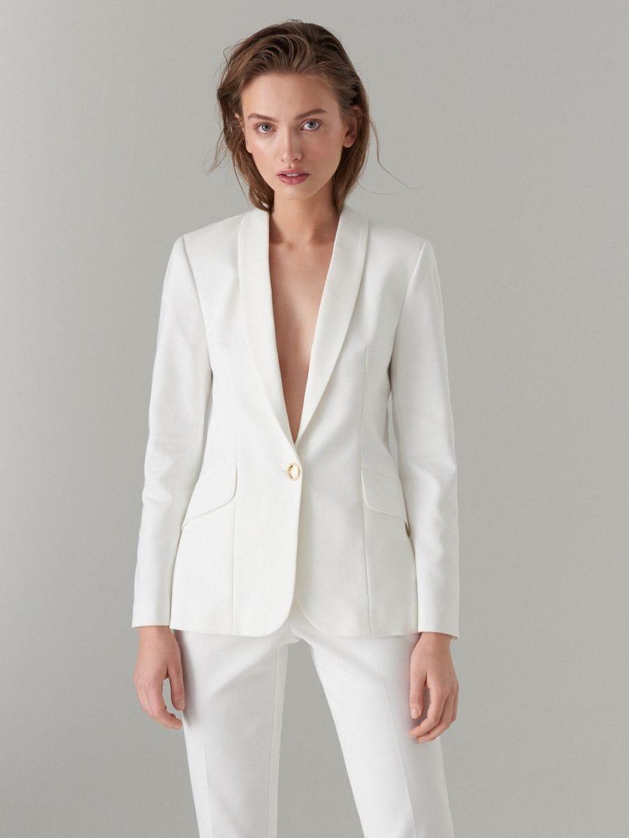 Pencil trousers - white - WT864-00X - Mohito - 3