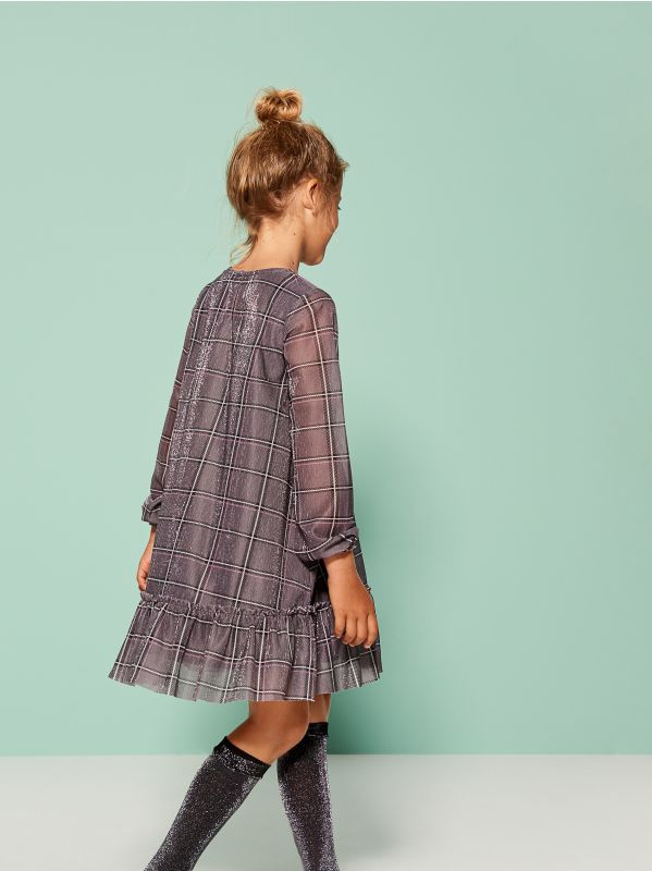 Little Princess girls ruffle dress - grey - UL795-90X - Mohito - 3