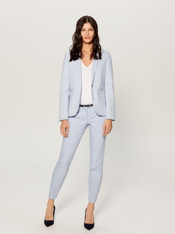 Cigarette pants with belt - blue - UN362-05X - Mohito - 1