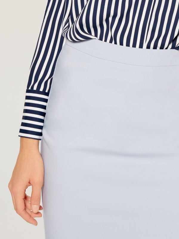 Pencil midi skirt - blue - UN363-05X - Mohito - 3