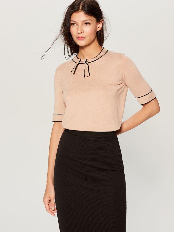 High waisted pencil skirt - black - UN421-99X - Mohito - 2