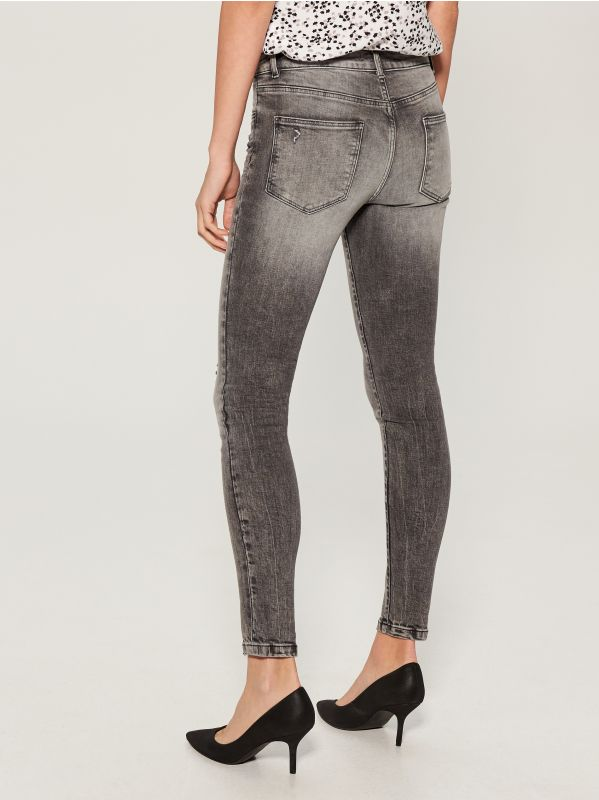Regular skinny jeans - light grey - UQ688-09J - Mohito - 4
