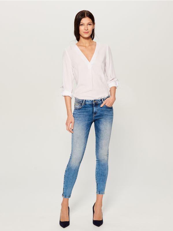 Skinny fit jeans - blue - UR495-50J - Mohito - 1
