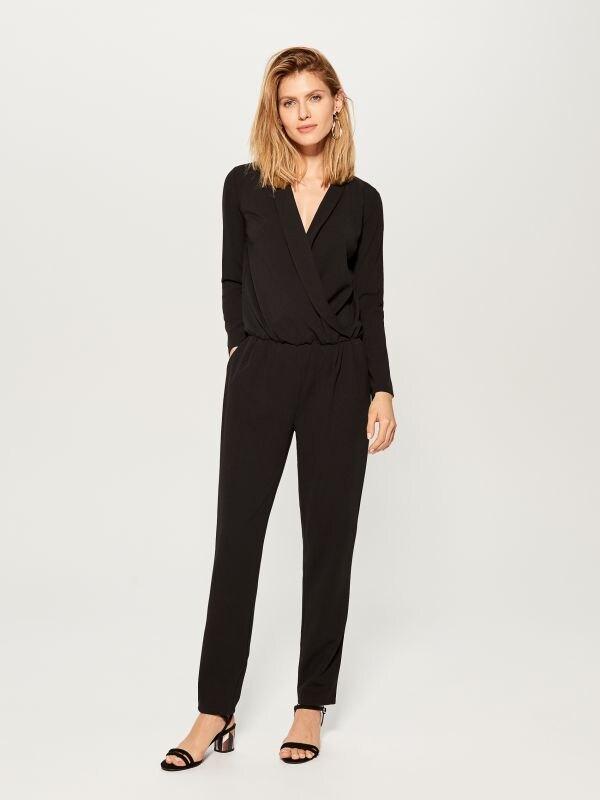 Wrap front jumpsuit - black - UY890-99X - Mohito - 1