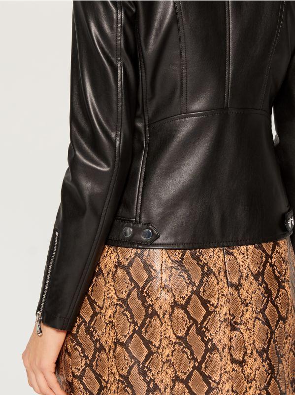 Eco-leather rocker jacket - black - VA418-99X - Mohito - 6