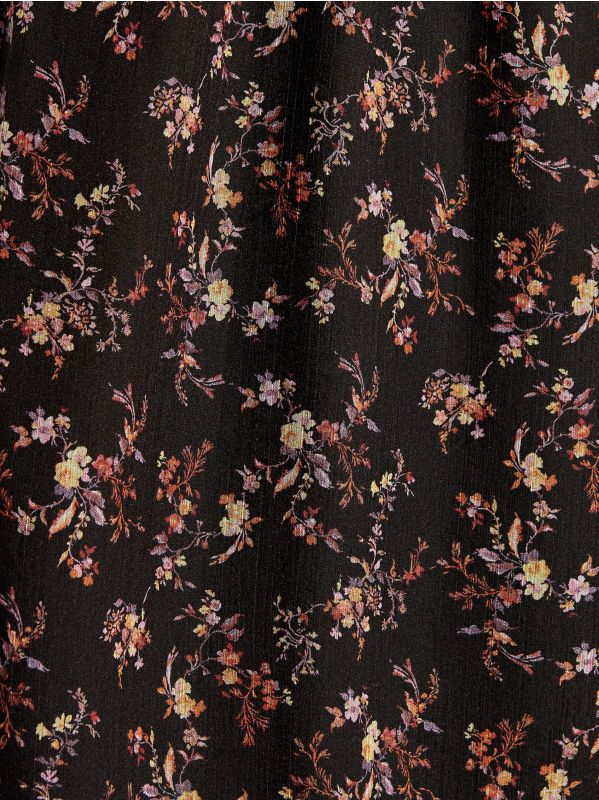 Chiffon floral dress - black - VB436-99P - Mohito - 5