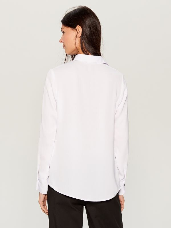 Shirt with contrasting buttons - white - VB664-00X - Mohito - 5