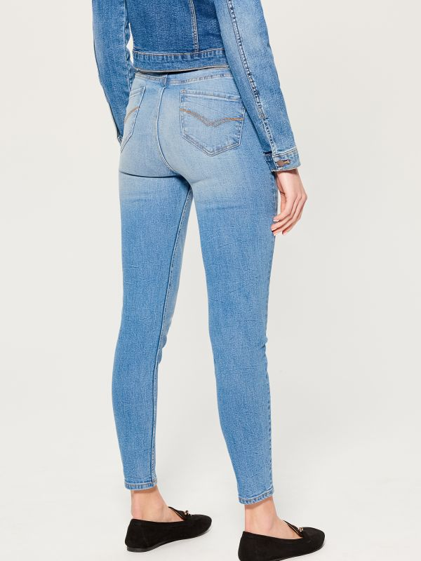 High waist skinny fit jeans - blue - VC490-50J - Mohito - 4