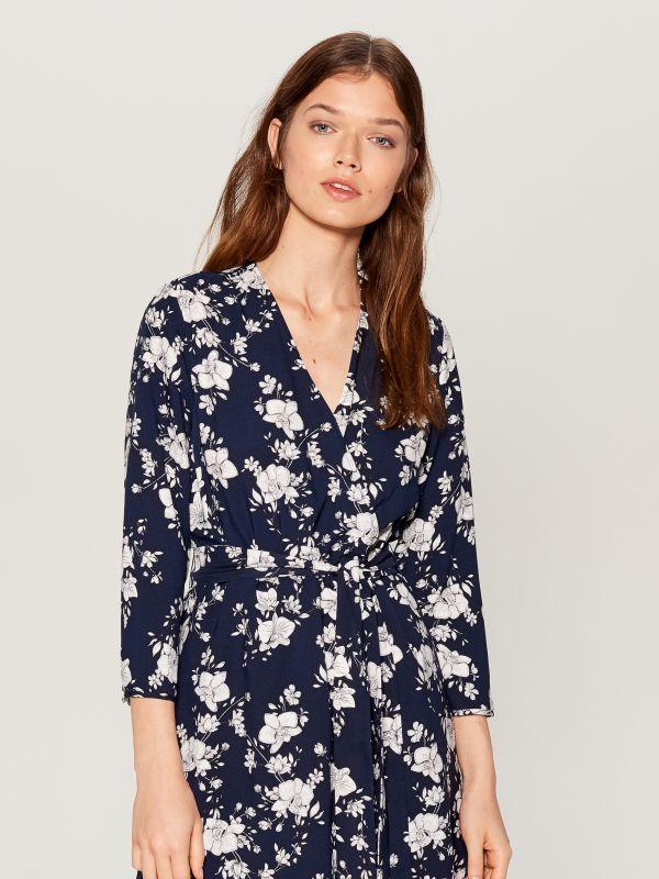 Printed wrap dress - blue - VD246-95P - Mohito - 2