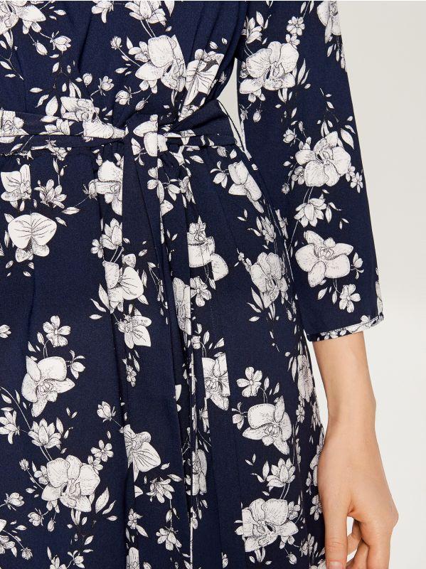 Printed wrap dress - blue - VD246-95P - Mohito - 3