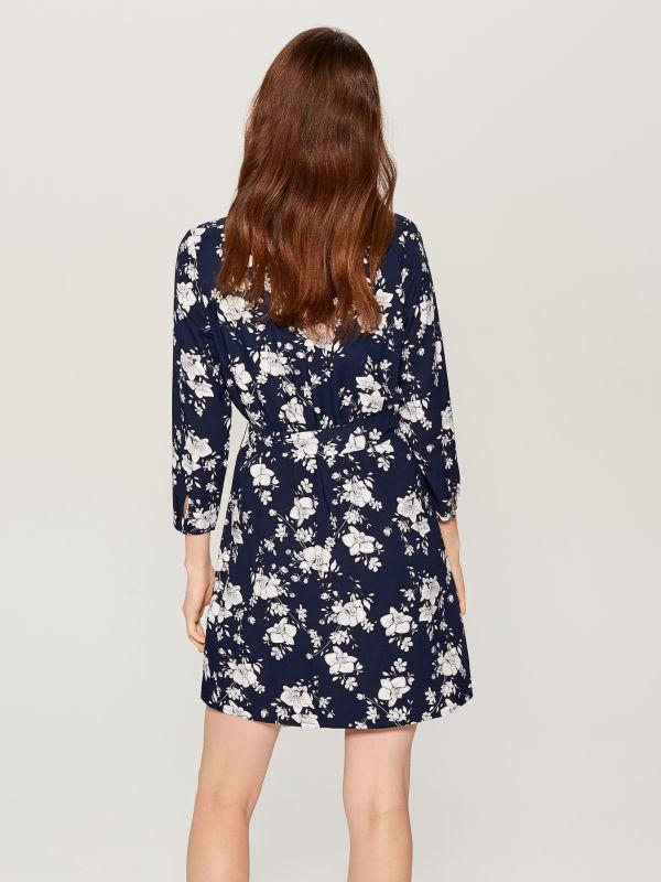 Printed wrap dress - blue - VD246-95P - Mohito - 4