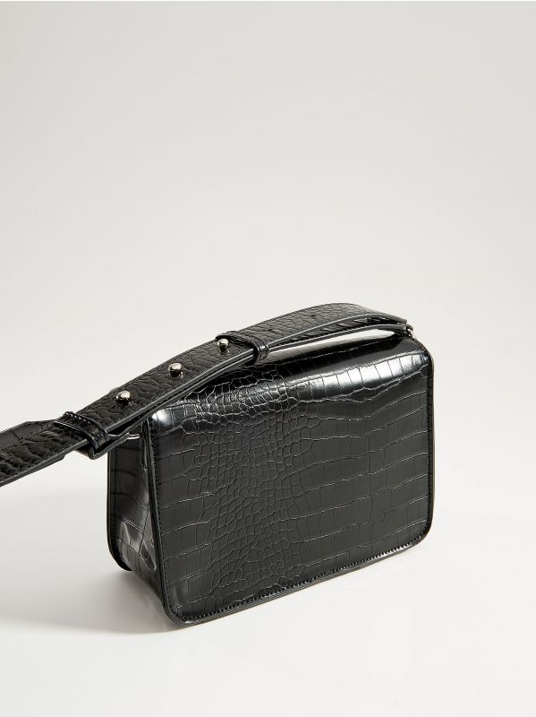 Cross body bag with round clasp - black - VE353-99X - Mohito - 3
