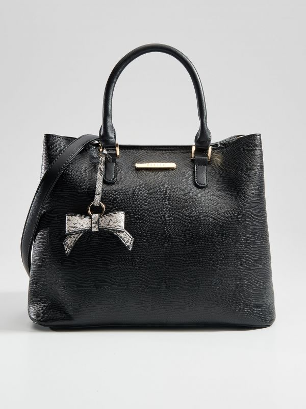 City bag with key chain - black - VE359-99X - Mohito - 1