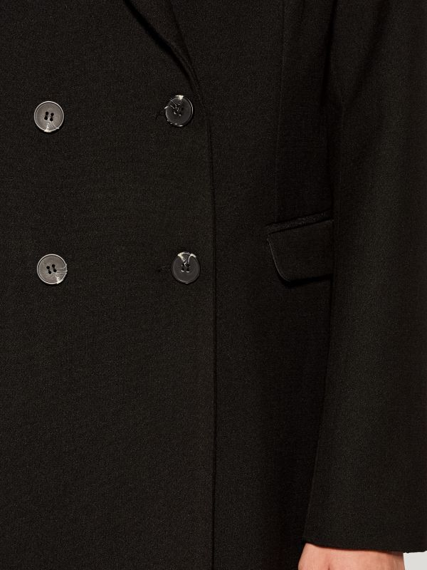Double-breasted coat - black - VG216-99X - Mohito - 4