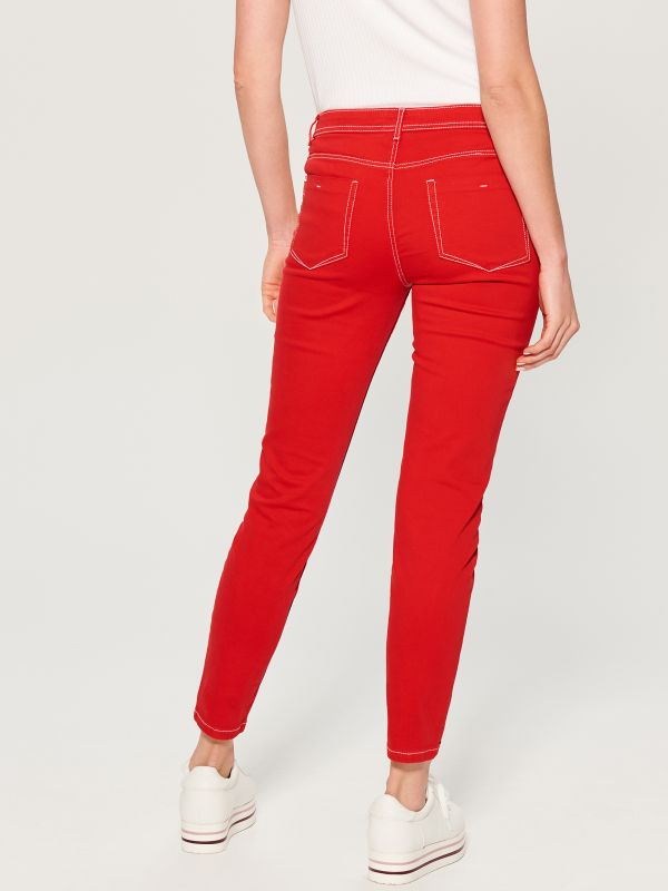 Skinny fit jeans - red - VG900-33J - Mohito - 4