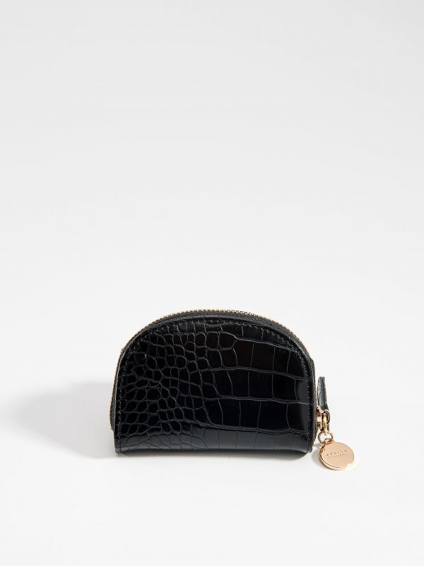 Small wallet with embossed pattern - black - VJ262-99X - Mohito - 1