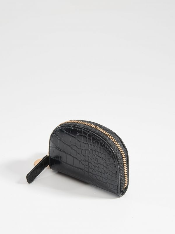 Small wallet with embossed pattern - black - VJ262-99X - Mohito - 2