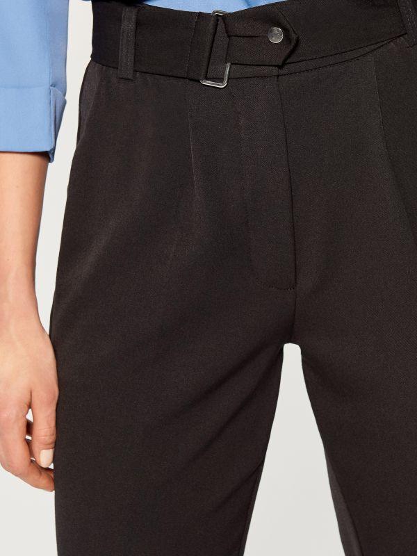 Cigarette pants with belt - black - VM141-99X - Mohito - 3