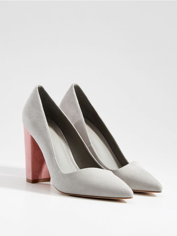 Chunky heel pumps - light grey - VN950-09X - Mohito - 2