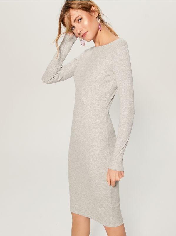 Fitted midi dress - grey - VO006-90X - Mohito - 3