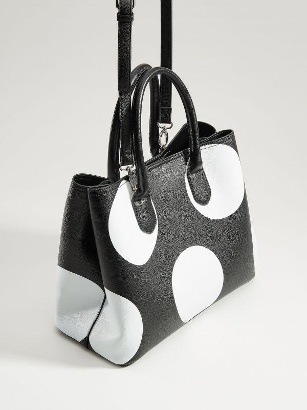 Shopper bag with keyring - black - VP617-99X - Mohito - 2