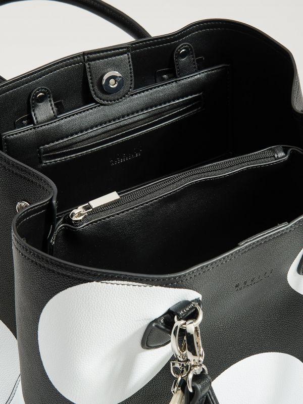 Shopper bag with keyring - black - VP617-99X - Mohito - 3