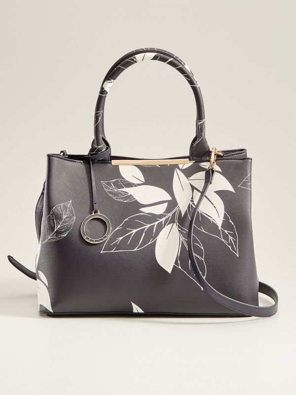 City bag with plant motif - navy - VP885-59X - Mohito - 2