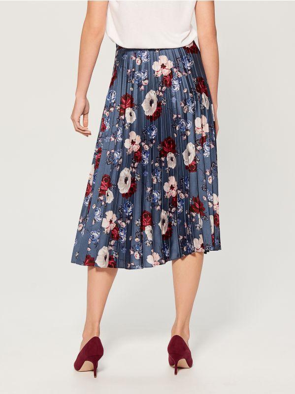 Pleated midi skirt - multicolor - VQ269-MLC - Mohito - 3