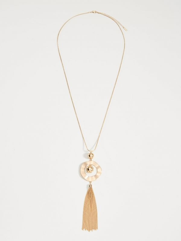 Long pendant necklace - golden - VQ936-GLD - Mohito - 1