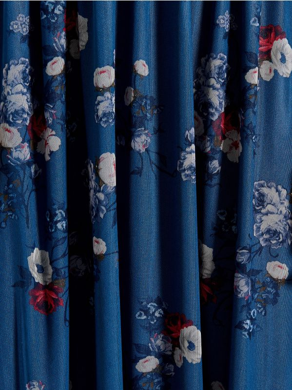 Chiffon floral dress - blue - VS324-50P - Mohito - 5