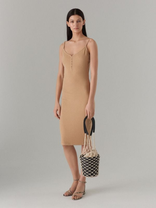 LADIES` DRESS - ivory - VV972-02X - Mohito - 1